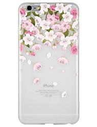 Недорогие -Кейс для Назначение Apple iPhone 8 / iPhone 8 Plus / iPhone 7 Рельефный / С узором Кейс на заднюю панель Мультипликация / Цветы Мягкий ТПУ для iPhone 8 Pluss / iPhone 8 / iPhone 7 Plus