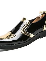 abordables -Homme Chaussures Gomme Printemps / Automne Confort Mocassins et Chaussons+D6148 Marche Bottine / Demi Botte Or / Noir / Argent
