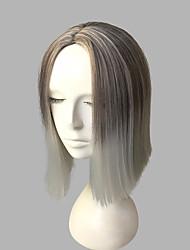 economico -Capelli sintetici Parrucche Kinky liscia Attaccatura dei capelli naturale Taglio scalato Senza tappo Parrucca di celebrità Parrucca per