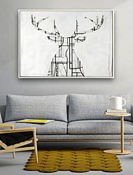 Недорогие -Наборы холстов Классика,1 панель Холст С картинкой Декор стены Украшение дома