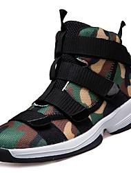 Masculino sapatos Borracha Inverno Outono Conforto Tênis Caminhada Botas Curtas / Ankle Cadarço de Borracha para Cinzento Verde Tropa