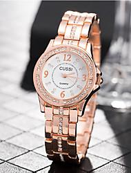 Недорогие -Жен. Наручные часы Diamond Watch Кварцевый Нержавеющая сталь Серебристый металл / Золотистый / Розовое золото Повседневные часы Аналоговый Дамы На каждый день Мода Элегантный стиль -