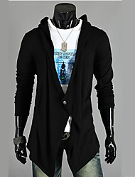cheap -Men's Sports Long Sleeves Cardigan - Solid Colored Shirt Collar