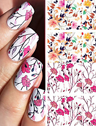 cheap -BORN PRETTY Pretty Flower Nail Art Water Decals BP-W04 Transfer Nail Stickers Nail Art Decorations