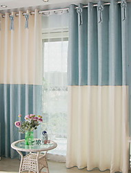 cheap -Grommet Top Double Pleat Pencil Pleat Curtain Contemporary Modern Solid Bedroom Polyester Blend Material Sheer Curtains Shades Home