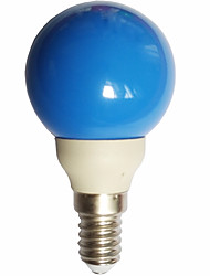 cheap -0.5W 15-25lm E14 LED Globe Bulbs G45 7 LED Beads Dip LED Blue 100-240V