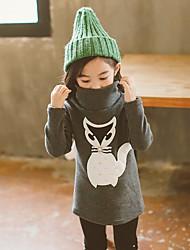 cheap -Girls' Print Sweater & Cardigan,Polyester Winter Fall Long Sleeve Simple Dark Gray