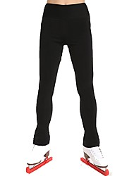 cheap -Figure Skating Pants Women's Children's Ice Skating Sweatshirt Pants / Trousers Bottoms Black Spandex Stretchy Performance Practise