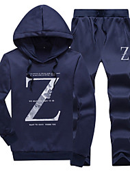 cheap -Men's Long Sleeves Loose Hoodie - Letter Hooded