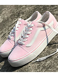 cheap -Women's Shoes Canvas Spring Fall Comfort Sneakers Flat Heel for Casual Pink Blue Black White