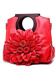 preiswerte -Damen Taschen PU Tragetasche Blume für Normal Büro & Karriere Ganzjährig Rote