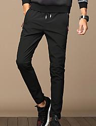 Masculino Simples Cintura Média Micro-Elástica Justas/Skinny Calças,Sólido Inverno Outono