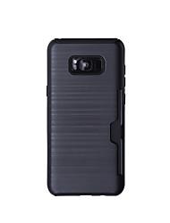 Capinha Para Samsung Galaxy S8 Plus S8 Porta-Cartão Antichoque Corpo Inteiro Côr Sólida Rígida TPU para S8 Plus S8 S7 edge S7 S6 edge S6