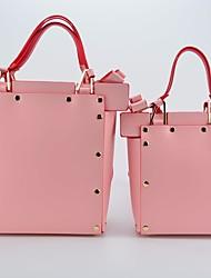 cheap -Women Bags PU Shoulder Bag Bow(s) for Casual All Season Gray Blushing Pink