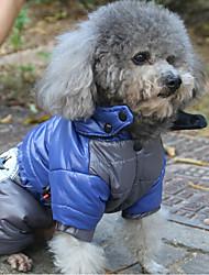 economico -Gatto Cane Cappottini Felpe con cappuccio Impermeabile Tuta Abbigliamento per cani Casual Impermeabili Tenere al caldo Sportivo Con