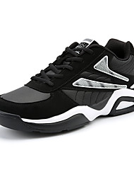 cheap -Men's Shoes PU Spring Fall Comfort Sneakers Lace-up for Casual Black/White Black/Blue