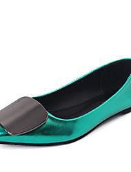 economico -Per donna Scarpe Felpato Primavera / Estate Club Shoes Sandali Piatto Appuntite Più materiali Rosso / Verde / Champagne
