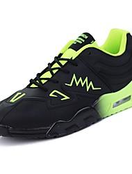 Masculino sapatos Borracha Primavera Outono Conforto Tênis Basquete Botas Curtas / Ankle Cadarço de Borracha para Azul Preto/Vermelho