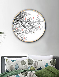 cheap -Animals Floral/Botanical Illustration Wall Art,PVC Material With Frame For Home Decoration Frame Art Living Room Bedroom Kitchen Dining