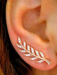 cheap -Women's Stud Earrings Rhinestone Simple Vintage Fashion Alloy Leaf Jewelry Daily Work
