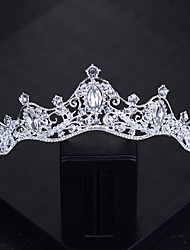 cheap -Women's Headband,Basic Classic Bride & Groom Style Crystal All Seasons Silver