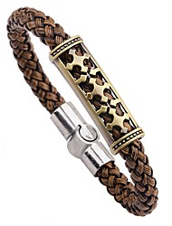 cheap -Men's Bracelet - Leather Fashion, Hip-Hop Bracelet Coffee For Street / Going out