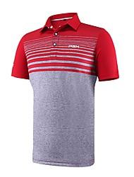 economico -Per uomo Manica corta Golf T-shirt Tuta da ginnastica Allenamento Indossabile Traspirabilità Golf