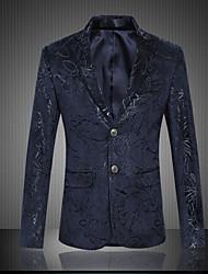 abordables -Hombre Sofisticado Blazer Estampado Estampado