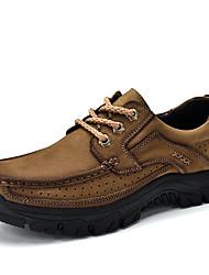 abordables -Homme Chaussures Cuir Similicuir Printemps Automne Confort Basket pour Décontracté Kaki Vert foncé