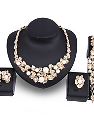 cheap -Women's Pearl Jewelry Set - Imitation Pearl, Gold Plated Leaf, Flower Statement, Oversized Include Gold For Wedding / Party / Earrings