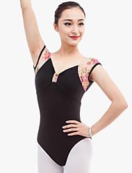 economico -Balletto Body Per donna Esibizione Cotone A fantasia / stampa Senza maniche Naturale Calzamaglia
