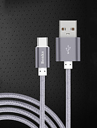 cheap -USB 2.0 Type-C USB Cable Adapter Charging Cable Charger Cord Data & Sync Cord Braided Cable For Samsung Huawei Xiaomi 100 cm Nylon