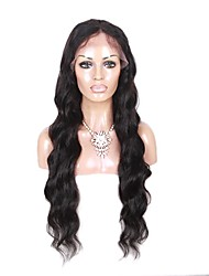 cheap -Natural Loose body Wave Lace Wig Human Virgin Hair Natural Black Color Lace Front Wig for Black Women