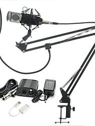 baratos -KEBTYVOR BM-800 Com Fio Microfone Conjuntos Microfone Condensador Profissional Para PC