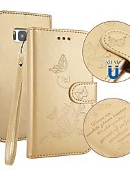 Недорогие -Кейс для Назначение SSamsung Galaxy S8 Plus S8 Бумажник для карт Кошелек со стендом Флип Рельефный Чехол Бабочка Твердый Кожа PU для S8