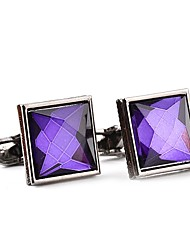 cheap -Geometric White Purple Cufflinks Crystal Alloy Formal Classic Fashion Daily Formal Men's Costume Jewelry