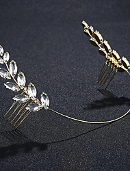 cheap -Crystal Alloy Tiaras with Rhinestone Crystal 1pc Outdoor To-Go Headpiece