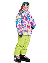 billiga Sport och friluftsliv-Wild Snow Pojkar / Flickor Skidjacka och -byxor Vindtät, Varm, Ventilerande Skidåkning / Multisport / Vintersport Polyester, Mesh Klädesset Skidkläder