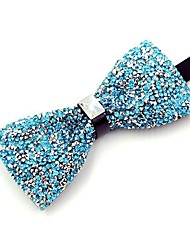cheap -Men's Cotton Bow Tie,Vintage Party Crystal/Rhinestone All Seasons Light Blue