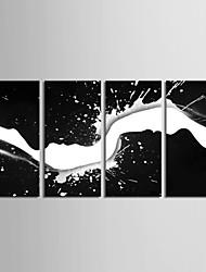 Недорогие -Холст для печати Деревня Modern, 4 панели холст Вертикальная С картинкой Декор стены Украшение дома
