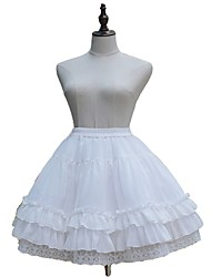 cheap -Sweet Lolita Dress Princess Lolita Women's Girls' Skirt Petticoat Cosplay Black White Sleeveless Sleeveless Knee Length