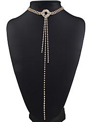 Недорогие -Жен. форма Elegant Мода европейский Ожерелья-бархатки Стразы Сплав Ожерелья-бархатки Свадьба Для вечеринок Бижутерия