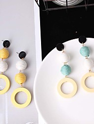 cheap -Women's Drop Earrings - Ball Simple, Vintage, Fashion Yellow / Blue For Causal