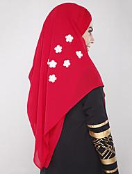 abordables -Ethnique et Religieux Hijab / Khimar Abaya Robe Arabe Femme Fête / Célébration Déguisement d'Halloween Noir Beige Gris Rouge Bleu Couleur