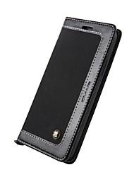 economico -Custodia Per Apple iPhone X iPhone 8 Porta-carte di credito A portafoglio Con supporto Con chiusura magnetica Integrale Tinta unica