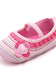 cheap -Girls' Shoes Fabric Spring & Summer Comfort / First Walkers / Crib Shoes Flats Appliques / Gore for Brown / Pink / Khaki