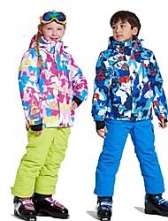 abordables -Wild Snow Garçon / Fille Veste & Pantalons de Ski Pare-vent, Chaud, Ventilation Ski / Multisport / Sports de neige Polyester, Maille Ensemble de Vêtements Tenue de Ski