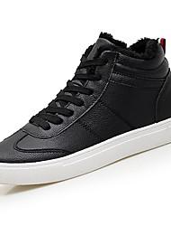 Masculino sapatos Micofibra Sintética PU Primavera Outono Conforto Tênis para Casual Branco Preto