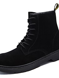 Men's Shoes Synthetic Microfiber PU Winter Combat Boots Boots Mid-Calf Boots for Work & Safety Black Khaki