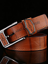 cheap -Men's Alloy Waist Belt,Brown White Camel Vintage Work Casual